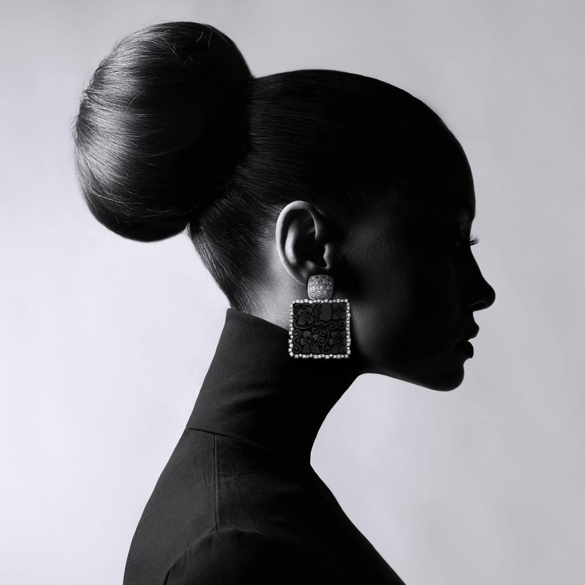 Ohrringe, Earrings, Black Jade, Diamonds, Johannes Hundt