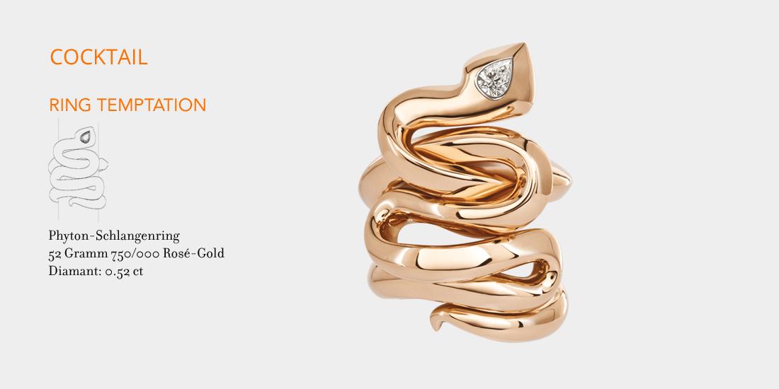 Johannes Hundt, Schlangen Ring, Diamant-Tropfen