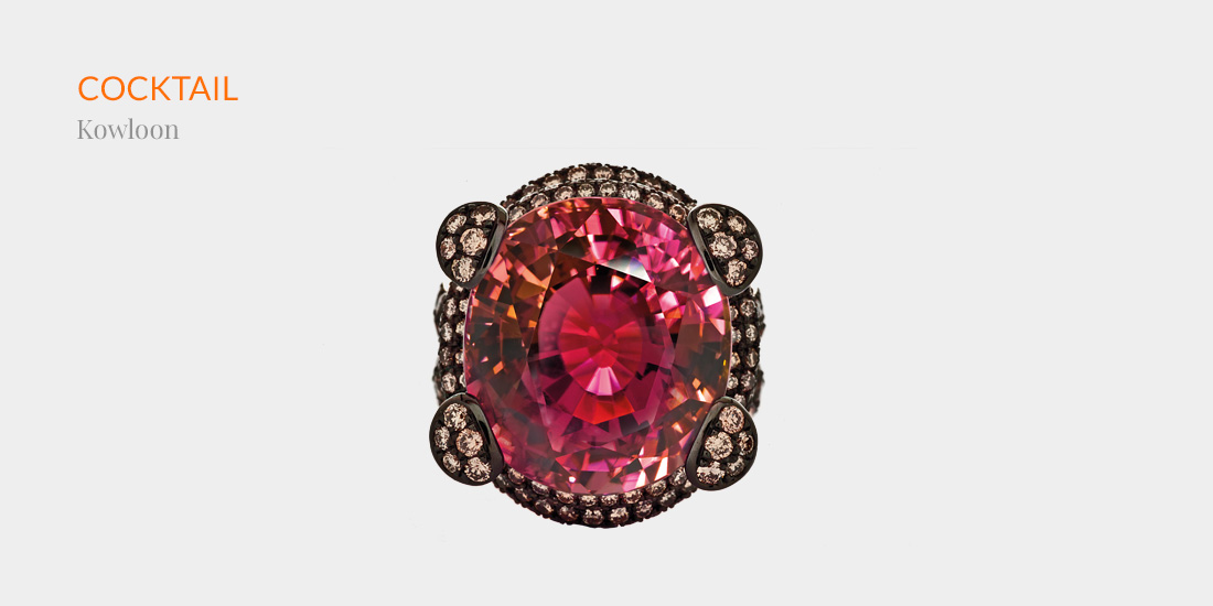 Johannes Hundt, Kowloon, Cocktail-Ring, Pink Tourmaline