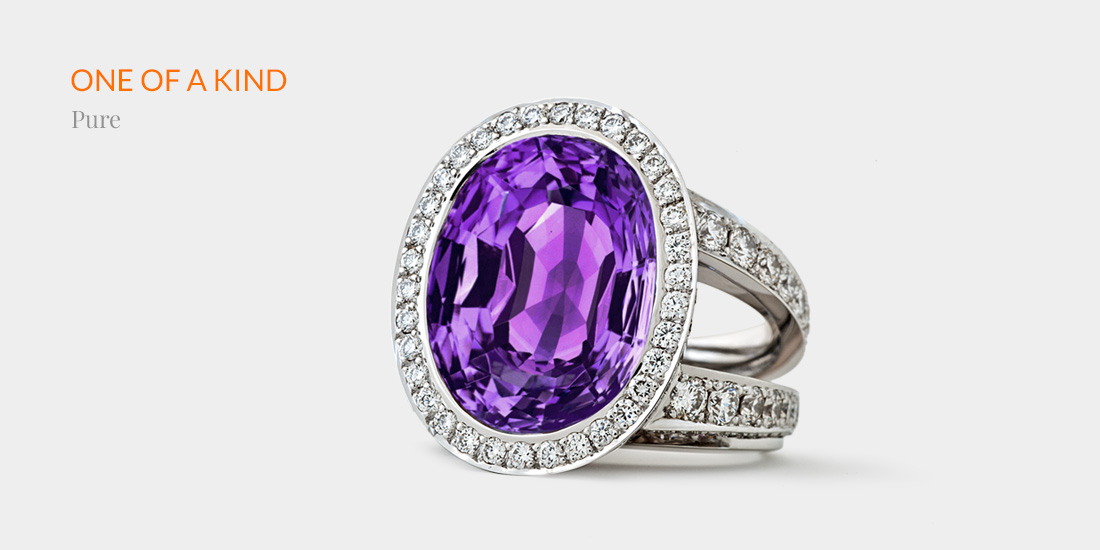 Johannes Hundt, Pure, Cocktail-Ring, Amethyst